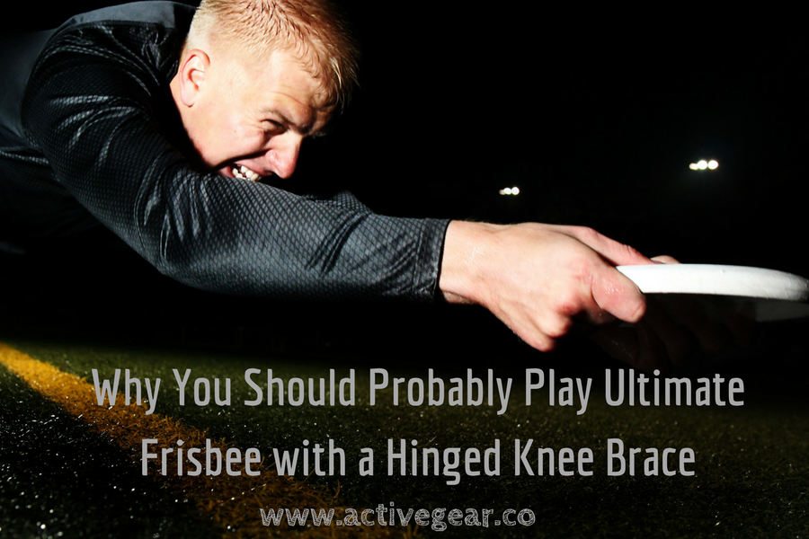 Why You Should Probably Play Ultimate Frisbee with a Hinged Knee Brace