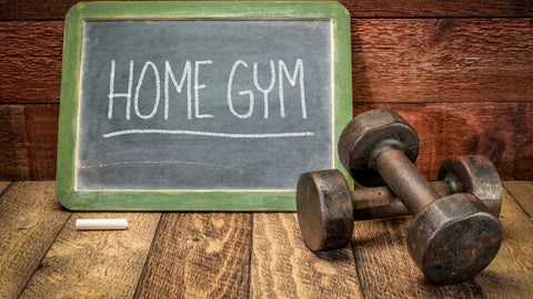 home gym with dumbbells