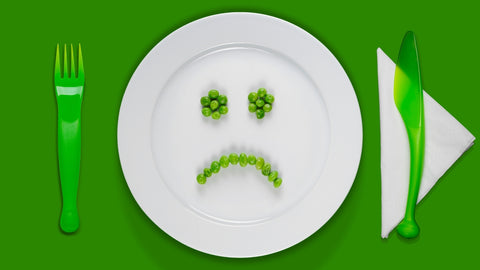 plate with unhealthy diet