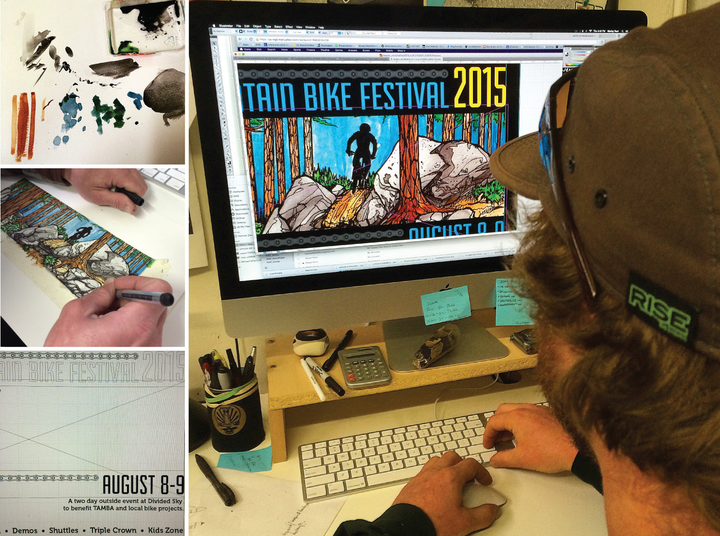 2 man design team. poster creation for meyers mtb festival