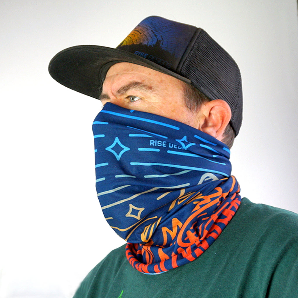 Neck Gaiter - Alpen Glow design - Multi Color