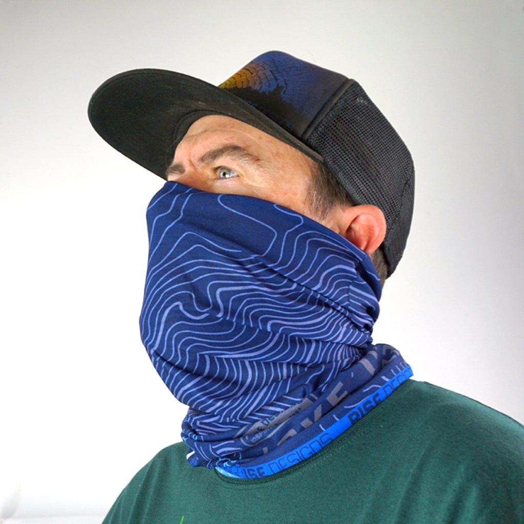 Neck Gaiter - Lake Tahoe - Navy Blue