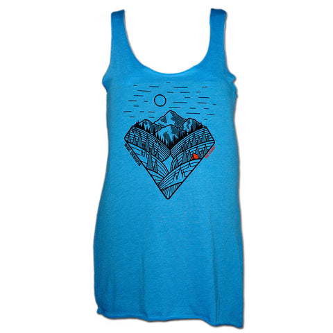 Go Camp! - Racerback Tank Top - Womens - Vintage Turquoise