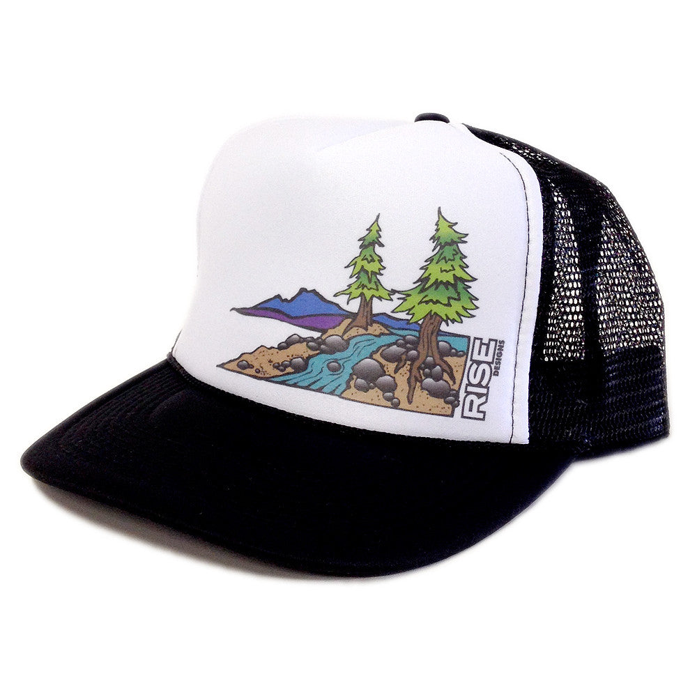 Truckee River Trucker Hat - Black/White