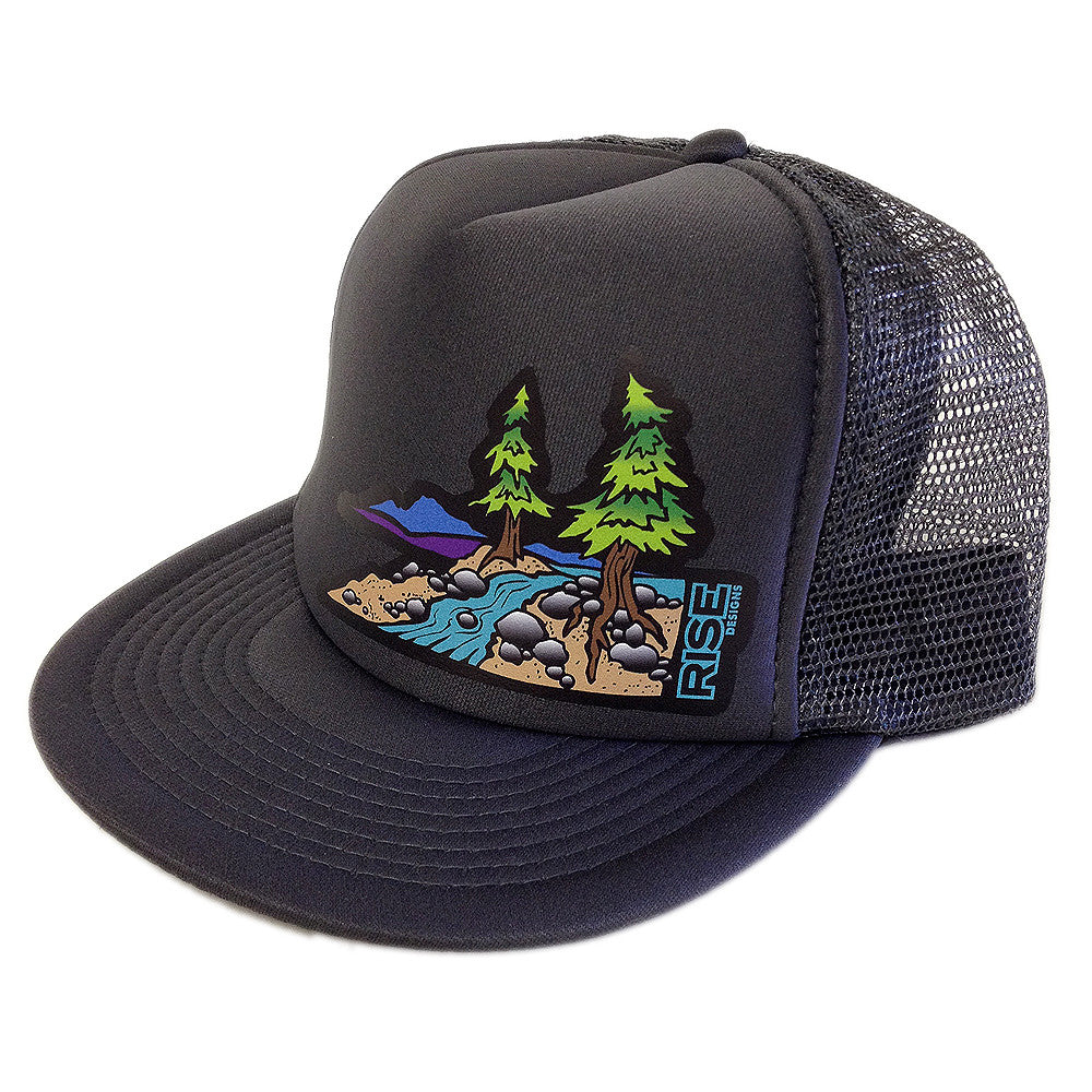 Truckee River Trucker Hat - Charcoal