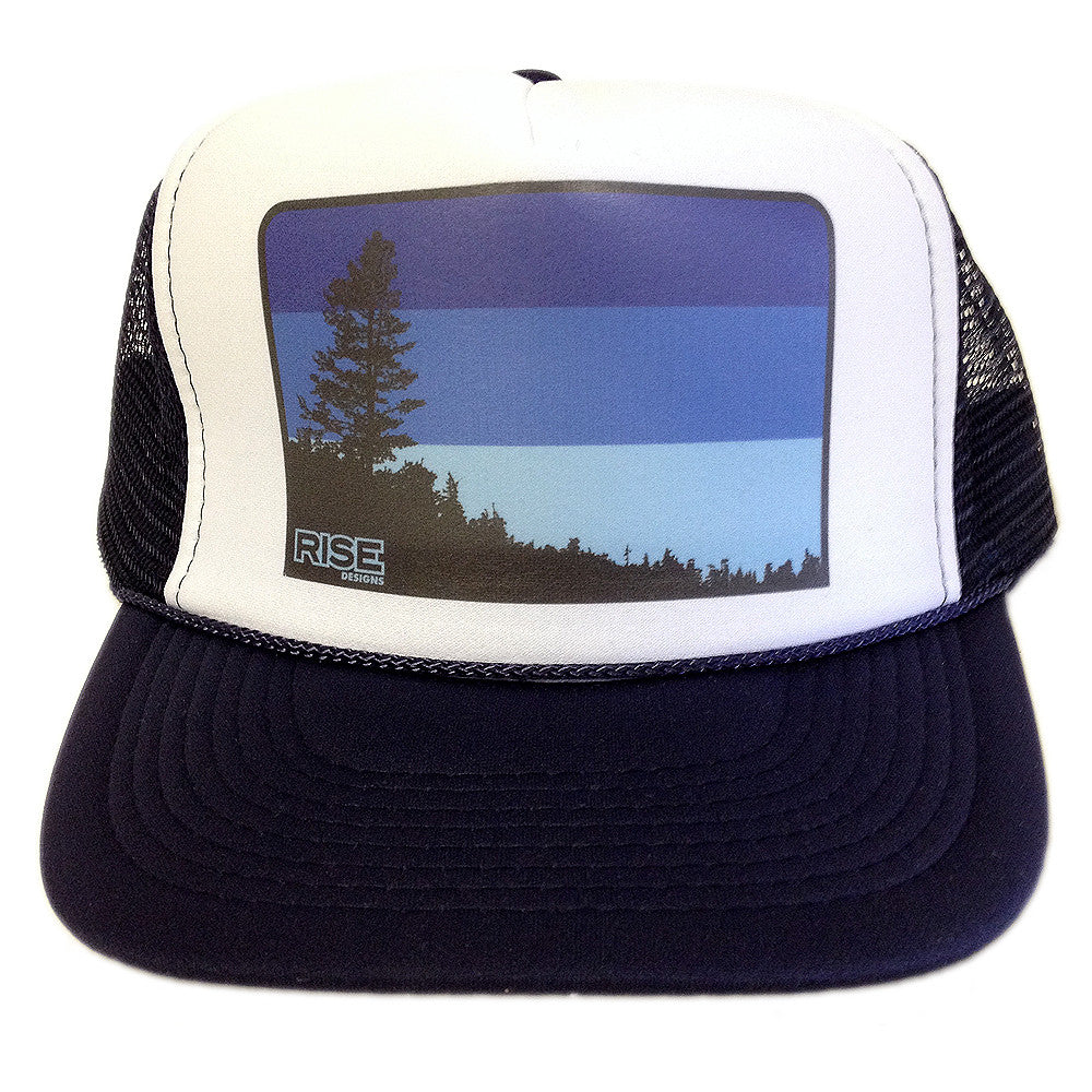 Tahoe Blues Trucker Hat - Navy/White