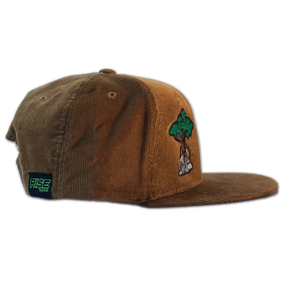 Juniper Tree Corduroy Snapback Hat - Coyote
