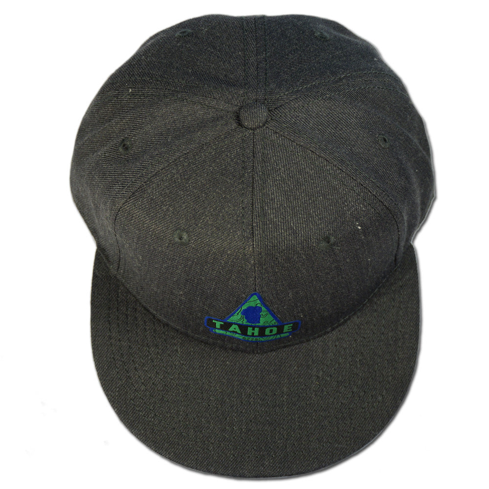Lake Tahoe Triangle Snapback Hat - Heather Black