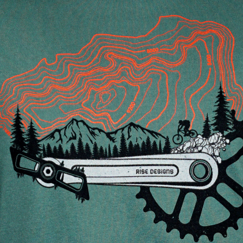 MTB Freerider T-Shirt - Mens - Pine Green