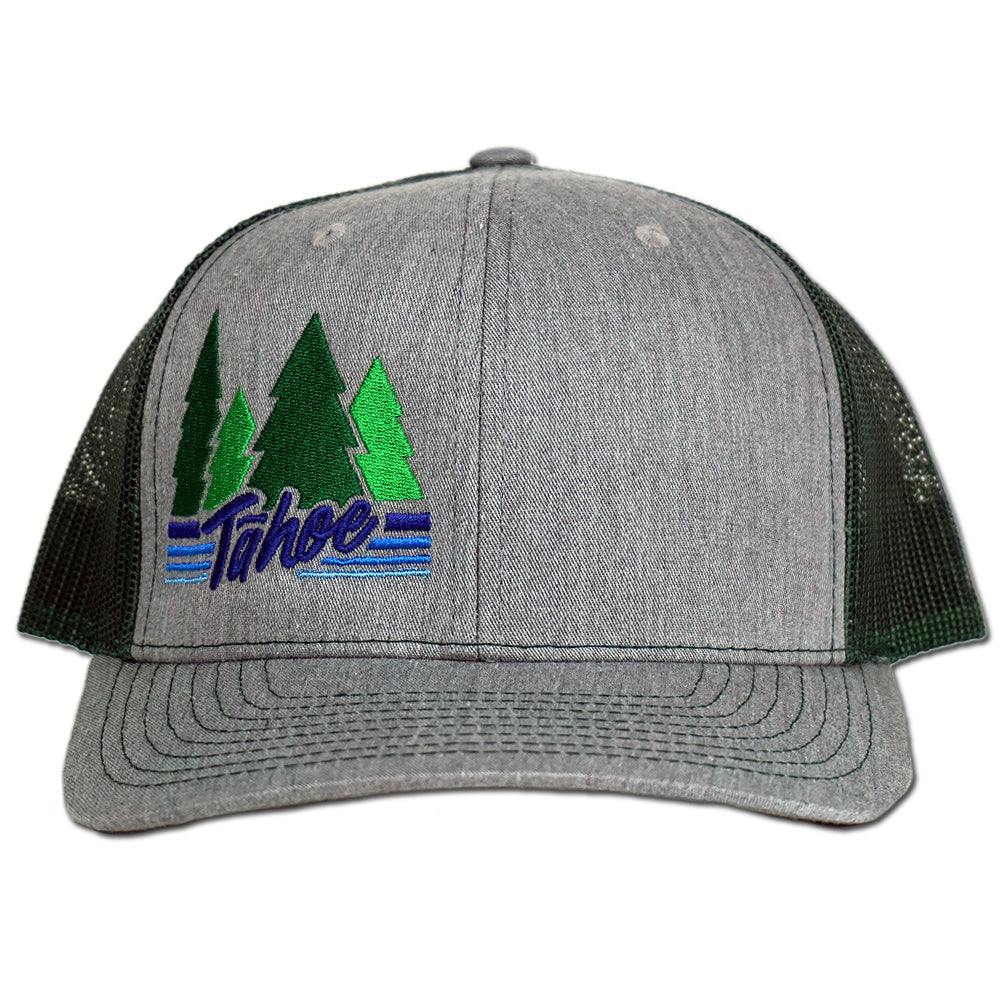 Tahoe Pines Snapback Hat - Heather Grey/Dark Green