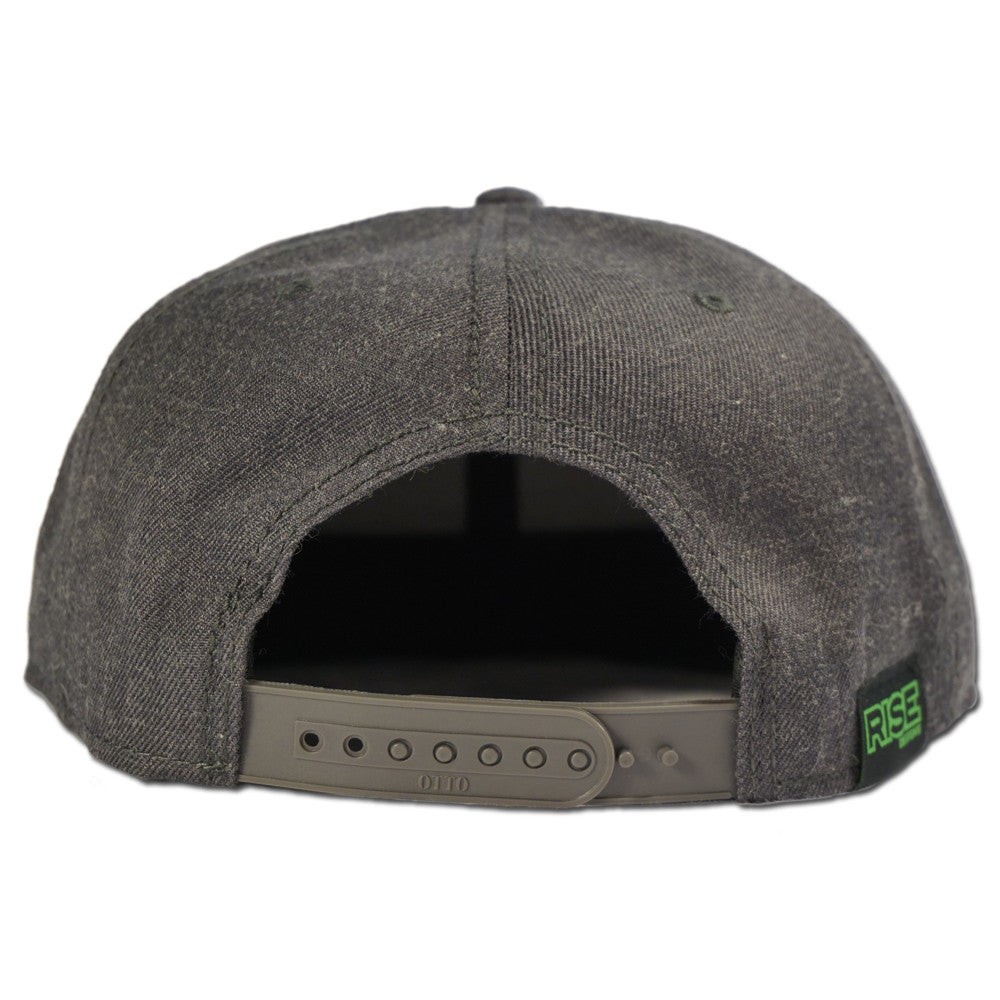 Tallac Mountain Snapback Hat- Heather Black