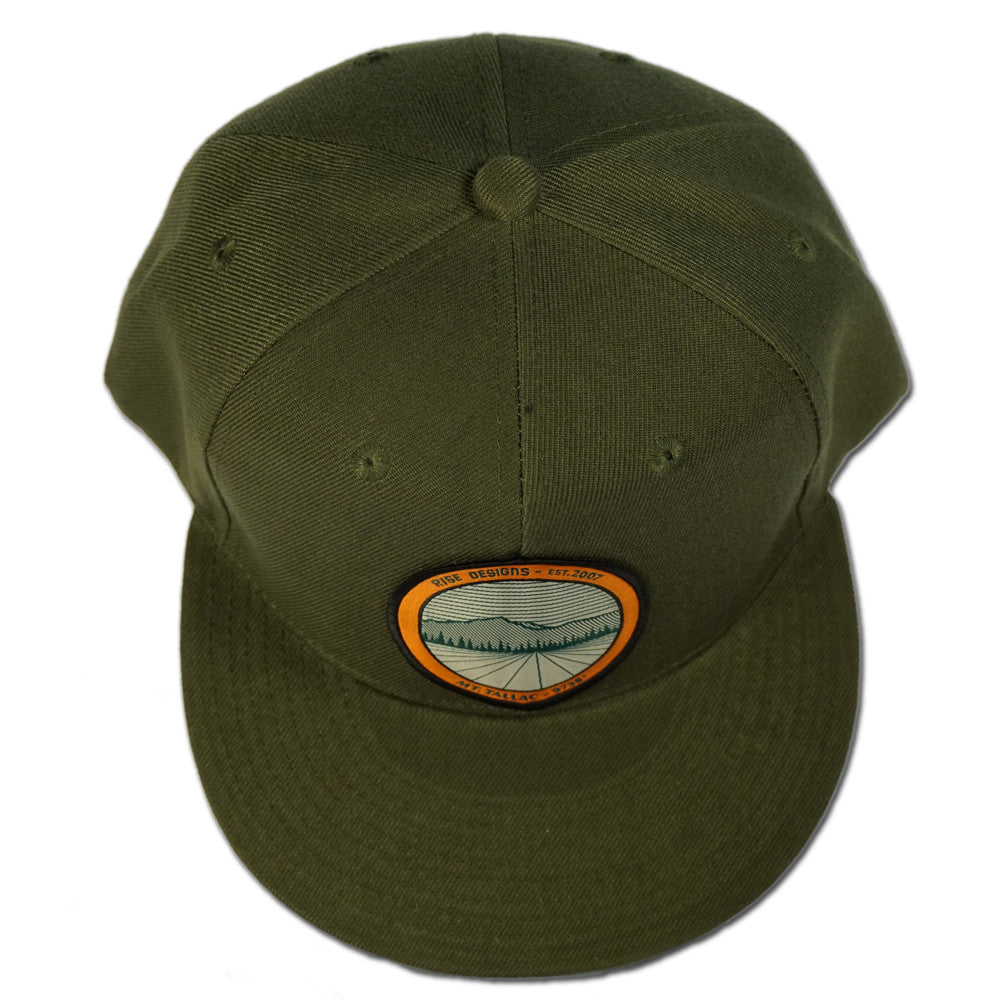 Tallac Mountain Snapback Hat - Moss Green