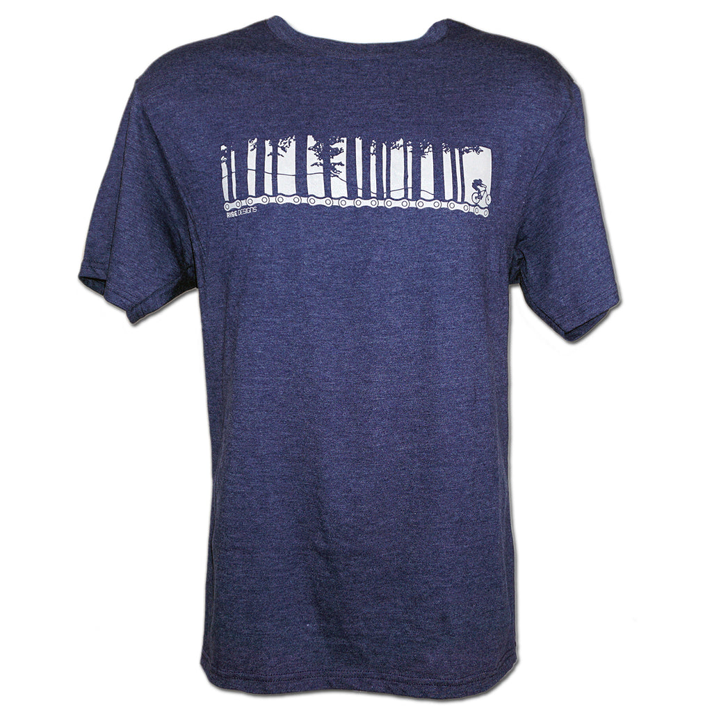 Tahoe Mountain Bike - T-Shirt - Mens - Navy Blue Heather