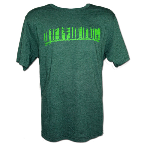 Tahoe Mountain Bike - T-Shirt - Mens - Dark Green Heather