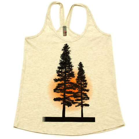 Yosemite Tree - Tank Top - Womens - Natural