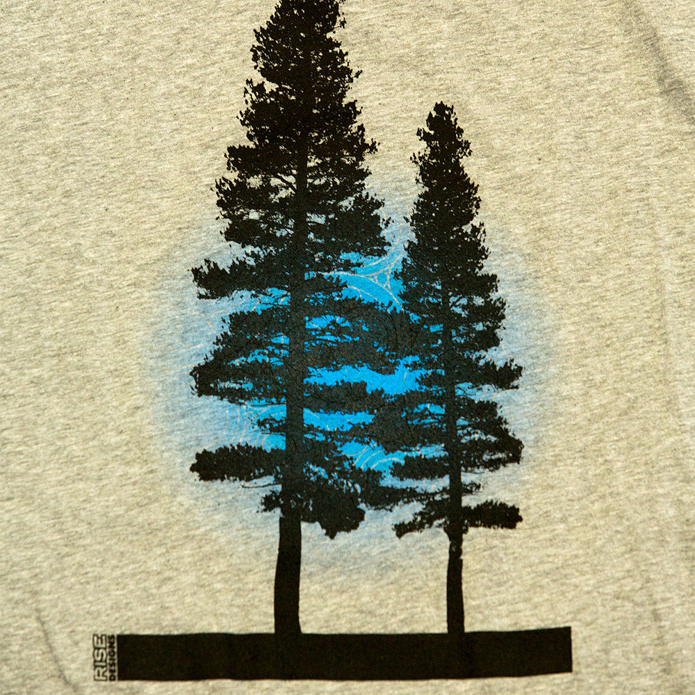Yosemite Tree - Tank Top - Mens - Heather Grey
