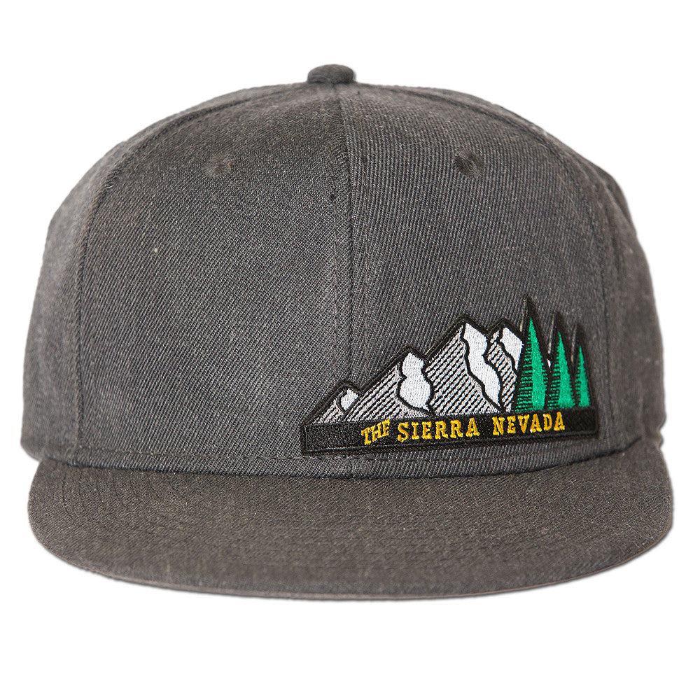 The Sierra Nevada Snapback Hat - Heather Black