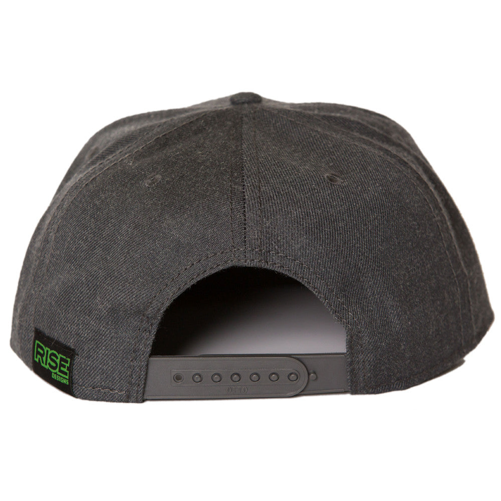 Tahoe Tree Circle Snapback Hat - Heather Black