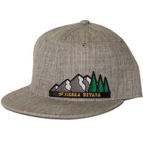 The Sierra Nevada Snapback Hat - Heather Grey