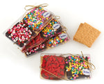 Chocolate Covered Graham Cracker Party Favors, set of 4