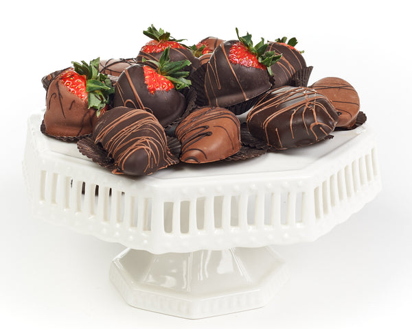 Chocolate Dipped & Drizzled Fresh Strawberries and Fruits