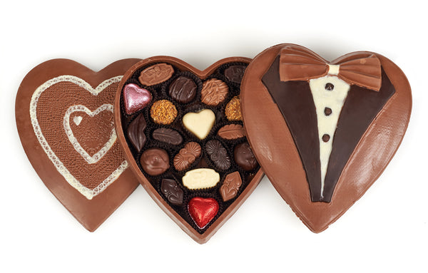 Valentine's Day chocolate heart boxes