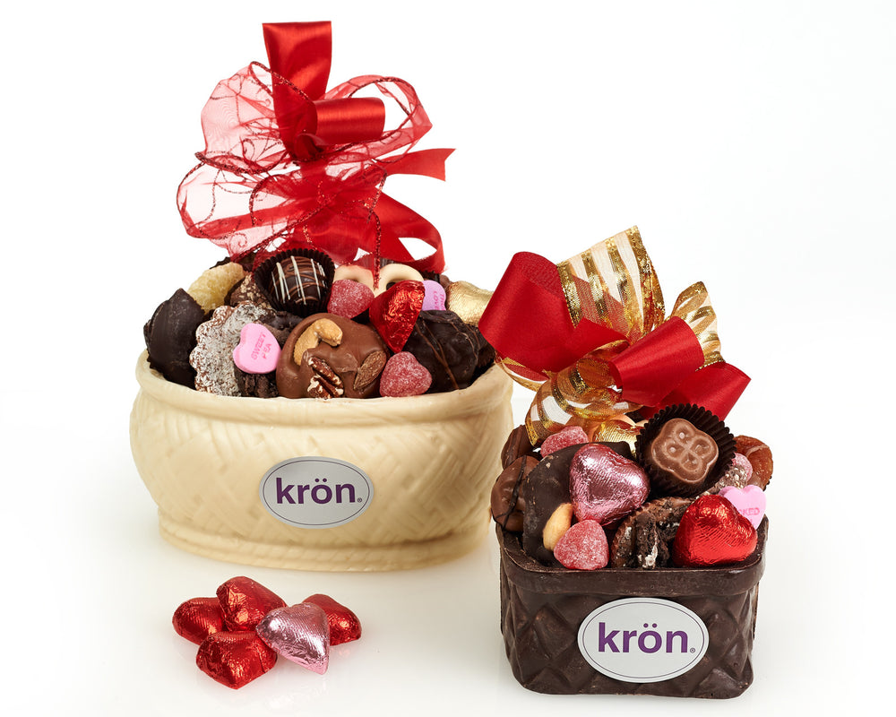 Valentine's Day Edible Chocolate Basket