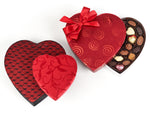 Love is Sweet Collection, red satin heart boxes