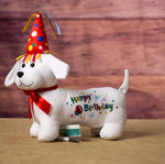 Write-on birthday puppy