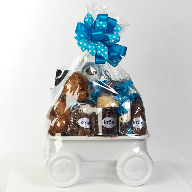 Baby Gift Wagon filled with Kron chocolate