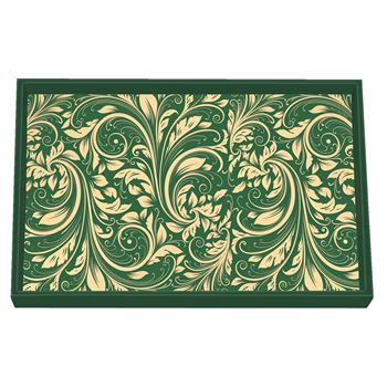 Green Damask Christmas Tray