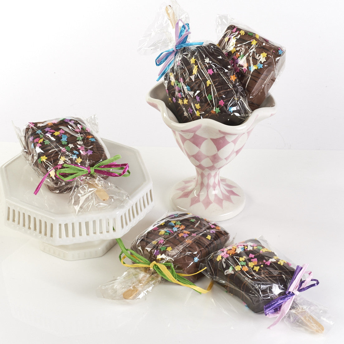 Chocolate Covered Krispy Treats, set of 4