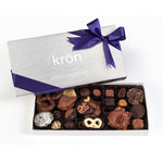 Kron signature box of chocolate and chocolate covered pretzels