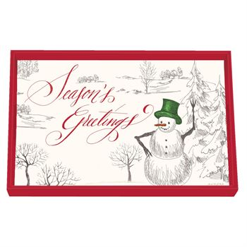 Season's Greetings Christmas Tray
