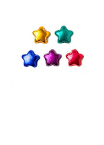 Foiled chocolate stars