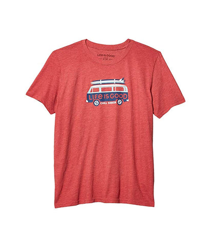"Kids Life is Good ""Chill Seeker Van"" Tee, Faded Red"