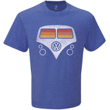 VW Bus Tee, Royal Heathered Blue