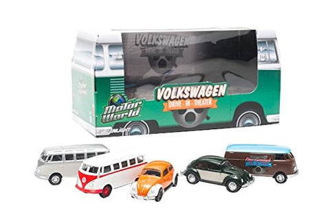 GreenLight Air Cooled Drive-In Movie Theater 5 Car VW Set, 1:64 Scale