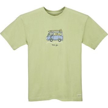 "Life is Good VW ""Getaway Van Go"" Men's T-shirt, Sprout Green"
