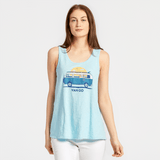Life is Good Women's Van Go Textured Slub Tank, Beach Blue