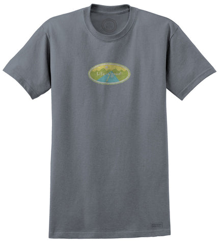 "Life is Good ""Open Road Oval"" Women's T-shirt, True Blue"