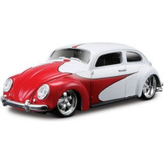 1:25 AllStars VW Beetle Miasto Diecast, Red/White