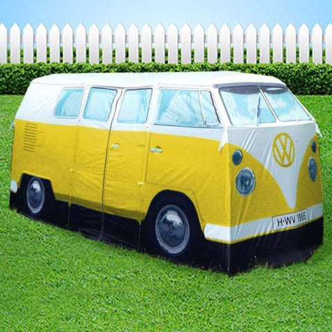 All Things Vdub & VW Bus Tent - Kids Pop Up Play Tent Yellow