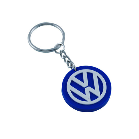 VW White/Royal Keytag