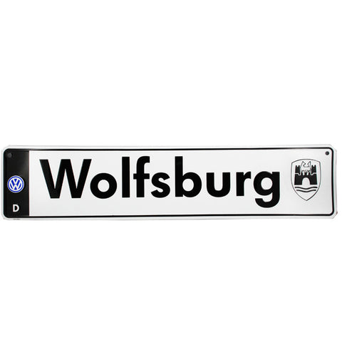 VW Wolfsburg Euro License Plate