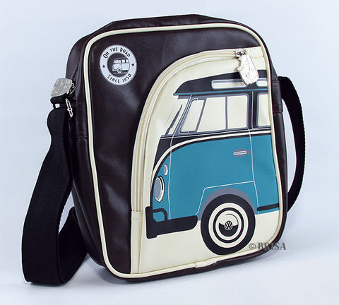 VW T1 Tablet iPad Bag Brown/Blue