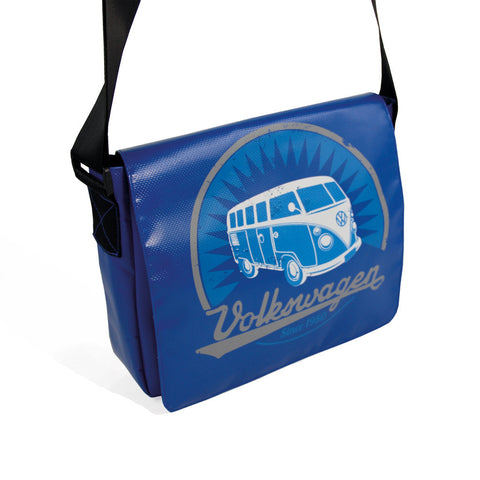 VW T1 Bus Tarpaulin iPad Bag Blue