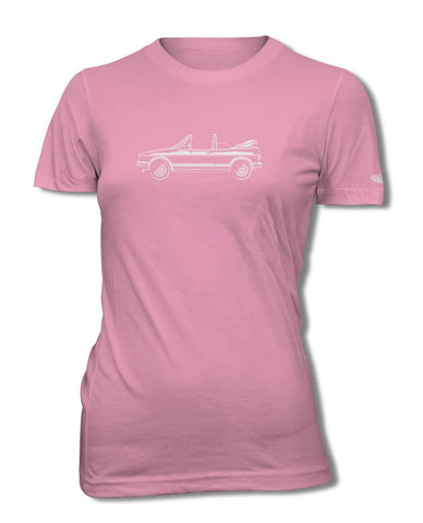 Volkswagen Golf Rabbit Cabriolet Convertible T-Shirt - Women - Side View