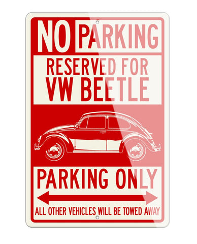 Volkswagen Beetle Classic Reserved Parking Only Sign
