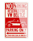 Volkswagen Beetle Convertible Reserved Parking Only Sign